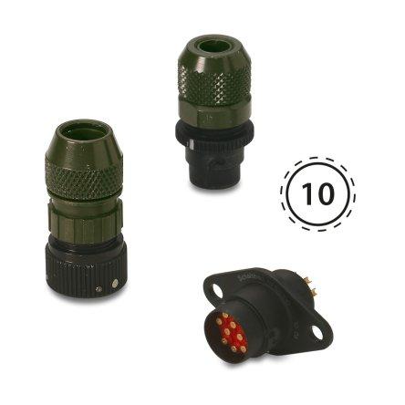 NF10 – Circular audio miniature connectors