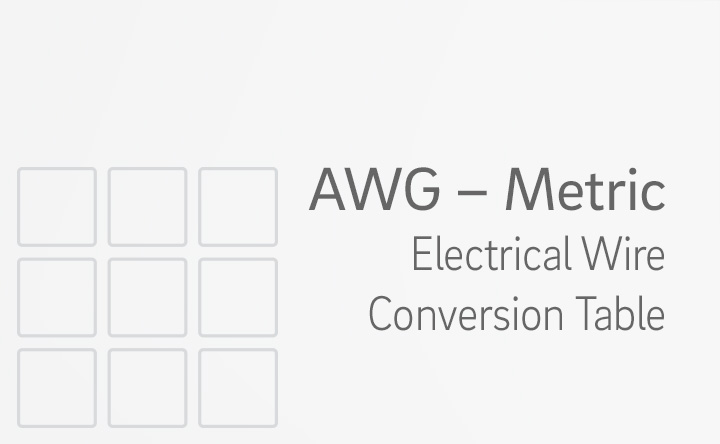 Electrical Wire Conversion Table