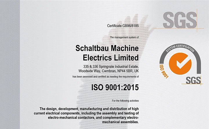 Quality certification: ISO9001