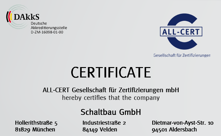 Environmental certification: ISO14001