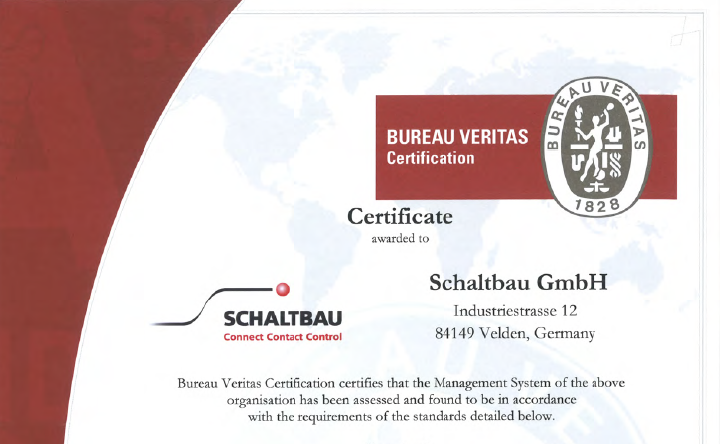 Quality certification: ISO 9001